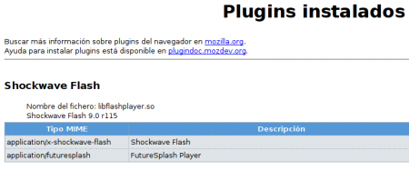 Plugin Flash en Firefox