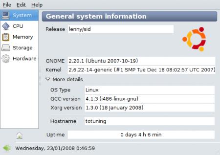 Sysinfo - Información del sistema en Ubuntu
