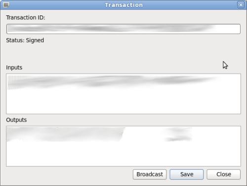 Realizando el broadcast a la red de una transacción en Electrum